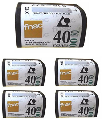 (5 Rolls) FNAC APS 400 40 Exp Film Advanced Photo System Advantix BULK