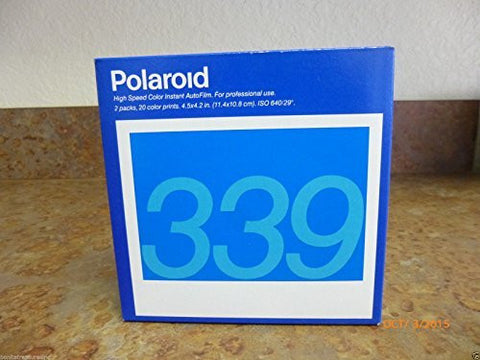 'Polaroid 339 Instant CN 2 PK Film New sealed old stock expire 05/1998
