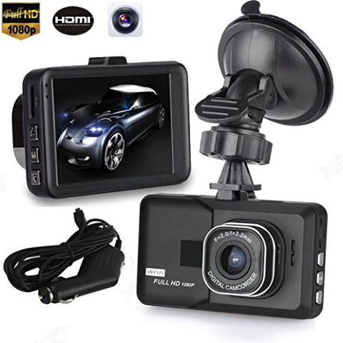 3' LCD HD 1080P Car Vehicle Video , KOOZIMO Dash Cam Recorder Camera DVR HDMI G-sensor