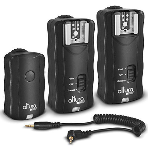(2 Trigger Pack) Altura Photo Wireless Flash Trigger for CANON w/ Remote Shutter (Canon EOS 70D, 60D, SL1, Rebel T6i, T6, T5i, T5, T4i, T3i, T2i, T1i, T5, T3, XT, XSi, XSi DSLR Cameras)