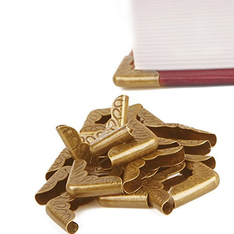 100pcs/lot yellow Small Book Scrapbooking Albums Menus Folders Collar Corner Protectors