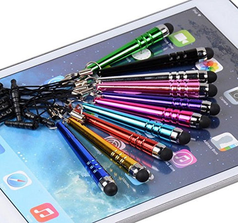 10pcs Sharp Colorful Touch Screen Pen,universal Sensitive Capacitive Stylus for Iphone4,5,6,samsung Note2,3,s4,s5,s6,htc,sony,kindle,ipad[for All Touch Screen Devices]