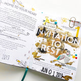 100 Days Of Less Hustle More Jesus // Day 1: Embossing Invitation