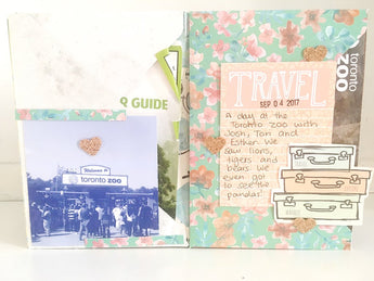 Travel Themed Mini Album - Process Video and Album Share