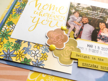 Home Is Wherever I Am With You - Scrapbooking Process Video (Wild Whisper)
