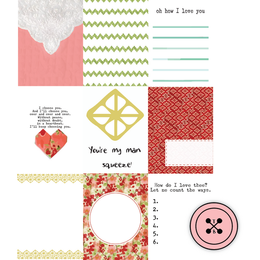 Quilted Hearts Journaling Cards