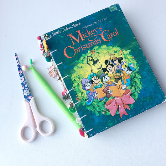 Mickey's Christmas Carol Junk Journal