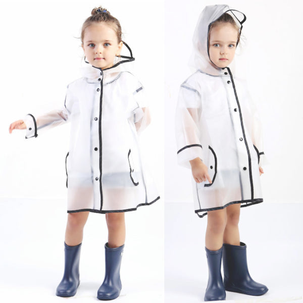 Kids Transparent Rain Coat - SHOPLOULOU.COM ⎮ SHOP LOULOU ⎮SHOPLOULOU