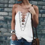 Lace-up Cami - SHOPLOULOU.COM ⎮ SHOP LOULOU ⎮SHOPLOULOU