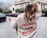 """Thanks For Nothing"" Cardigan - SHOPLOULOU.COM ⎮ SHOP LOULOU ⎮SHOPLOULOU"