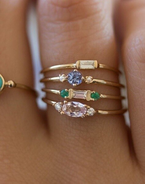 Multi Zircon Ring Set