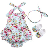 Baby Girl Printed Romper Set - SHOPLOULOU.COM ⎮ SHOP LOULOU ⎮SHOPLOULOU