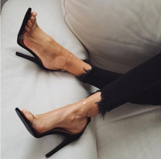Transparent ankle strap heels - SHOPLOULOU.COM ⎮ SHOP LOULOU ⎮SHOPLOULOU