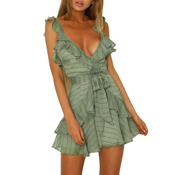 L.A Ruffle Chiffon Dress - SHOPLOULOU.COM ⎮ SHOP LOULOU ⎮SHOPLOULOU