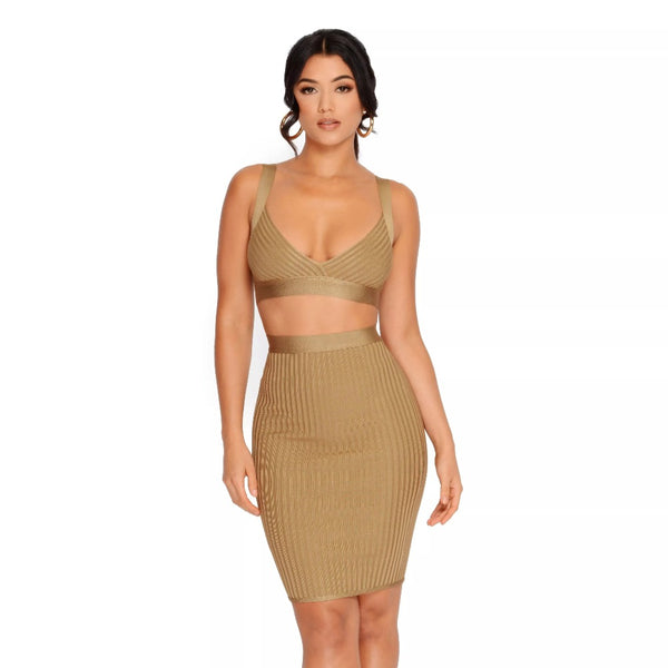 Champagne Two-Piece Set - SHOPLOULOU.COM ⎮ SHOP LOULOU ⎮SHOPLOULOU