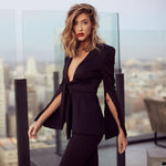 Deep-V Jumpsuit - SHOPLOULOU.COM ⎮ SHOP LOULOU ⎮SHOPLOULOU