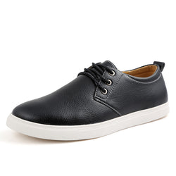 Men's Handmade Genuine Leather Casual Tennis Shoes
