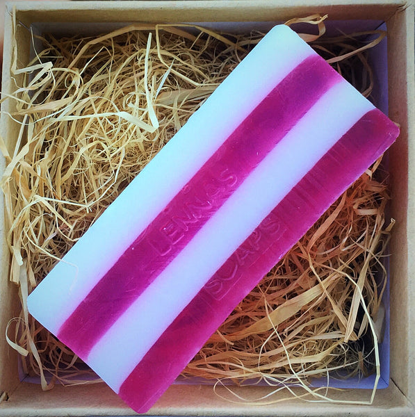 Pink candy cane soap