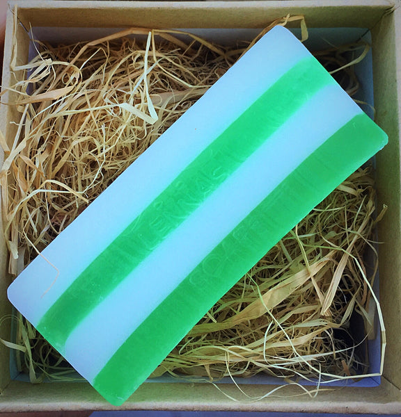 Green candy cane soap