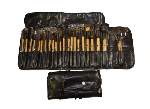 High End Beauty 22 Piece Horse Hair Makeup Brush Set w/Case