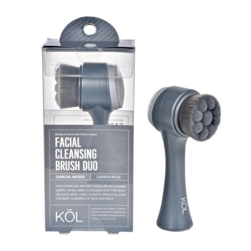 KOL Exfoliating And Cleansing Facial Brush Duo
