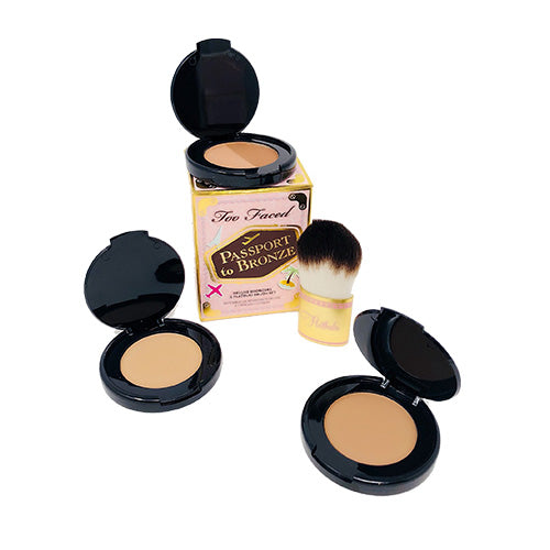 Too Faced Passport To Bronze with Flatbuki Brush