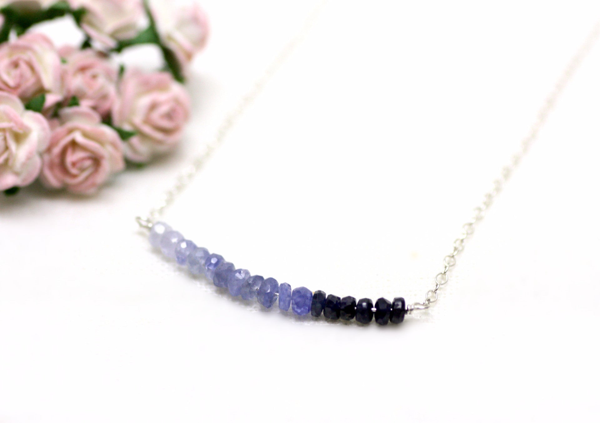 P'tite Jolie Gemstone Bar Necklaces in Sterling Silver