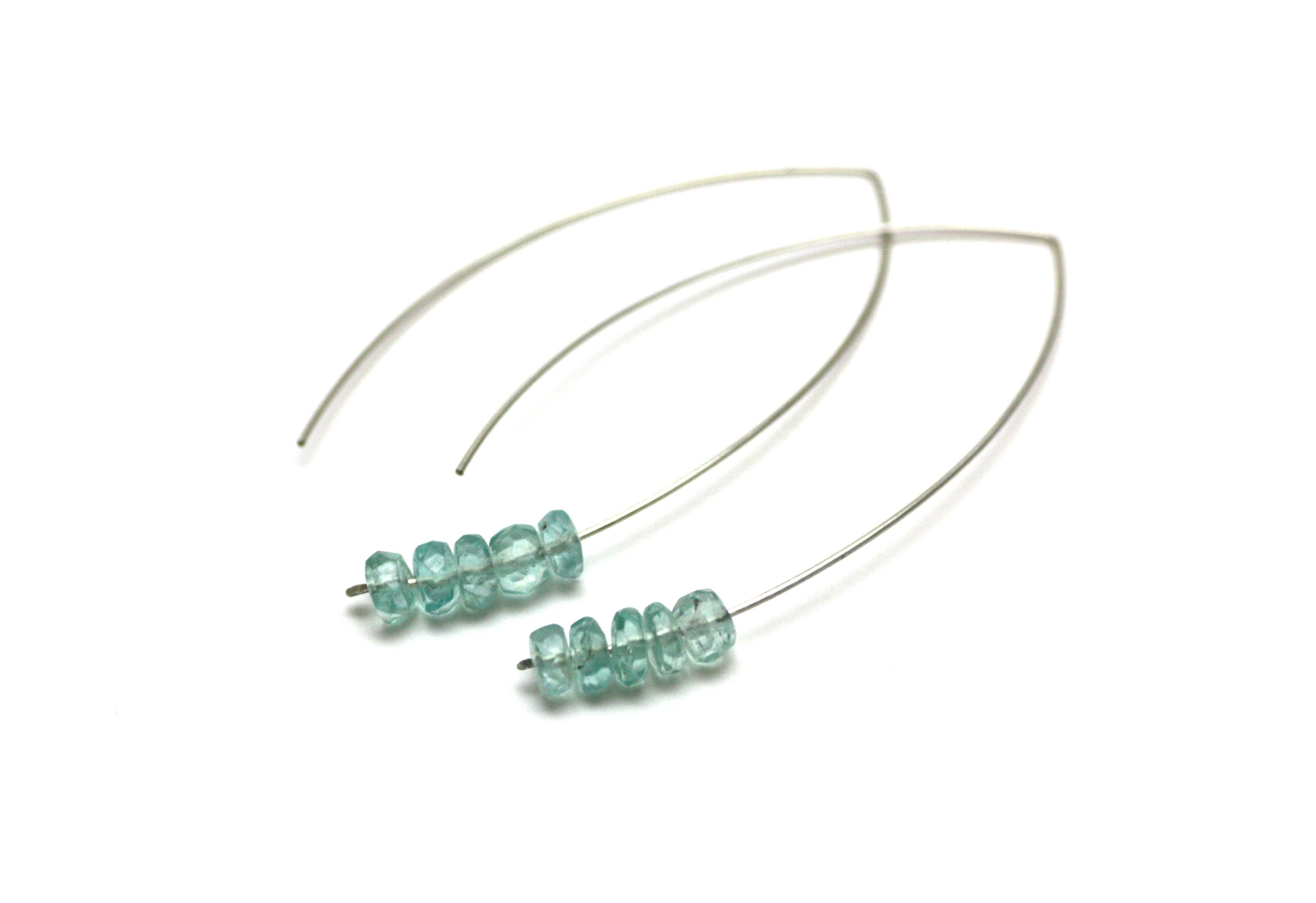 Sterling Silver Gemstone Marquise Earrings CLEARANCE