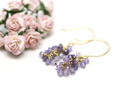 Amethyst Cluster Earrings