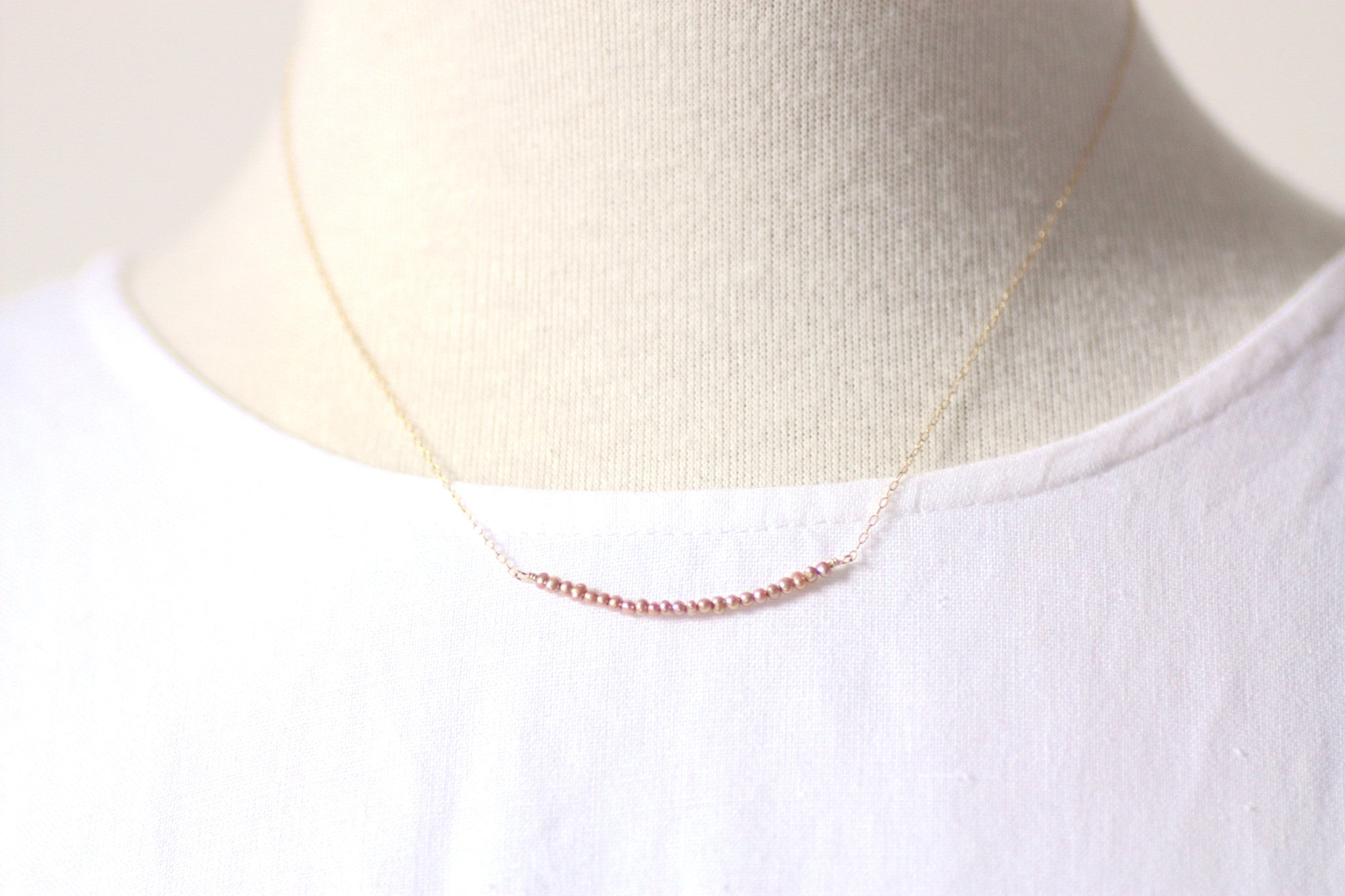 P'tite Jolie Gemstone Bar Necklaces in Gold Filled