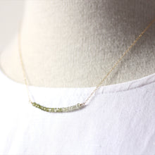 Peridot Ombré Bar Necklaces in Gold — P'tite Jolie