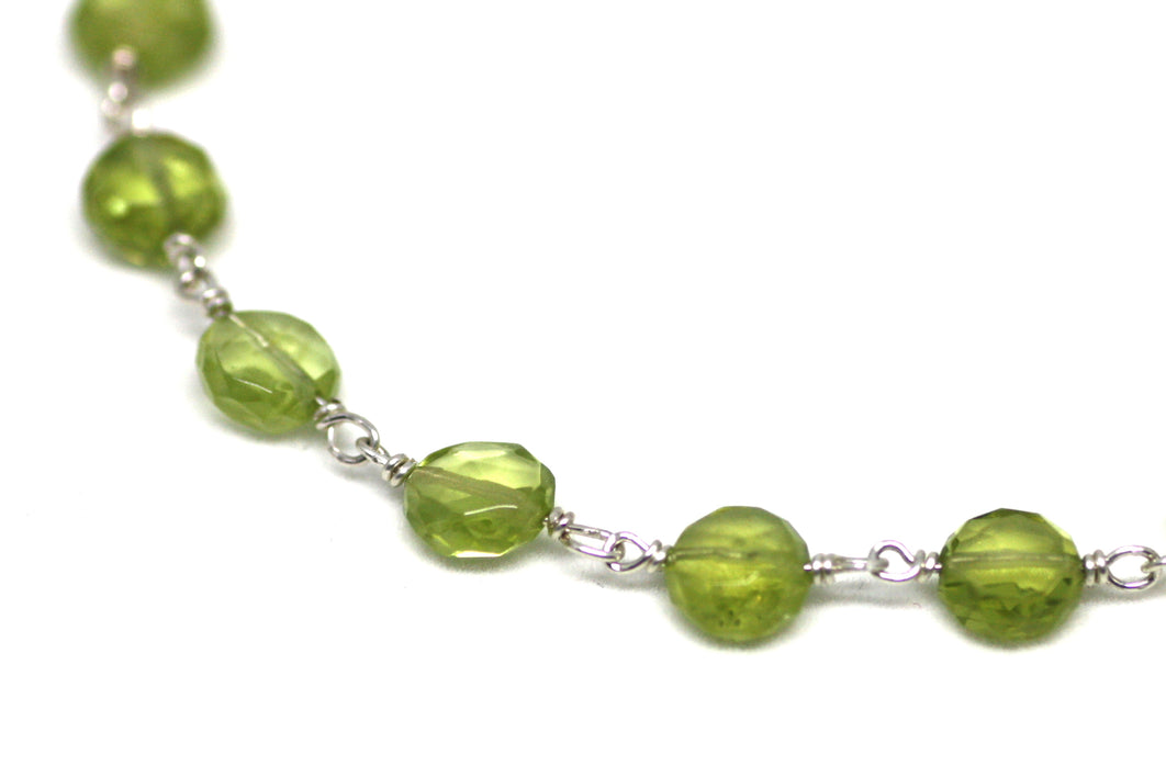 Peridot Bracelet in Wire Wrapped Silver
