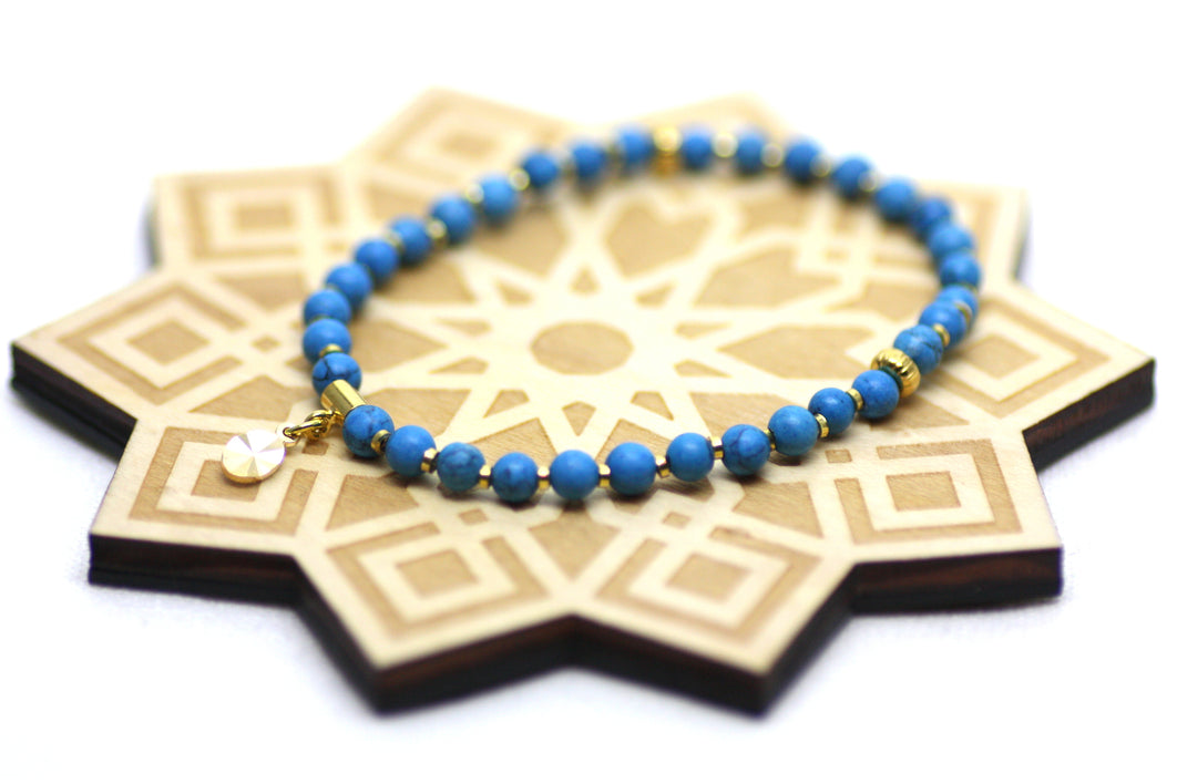 Gemstone Wrist Tasbih in Gold or Silver XS/S CLEARANCE