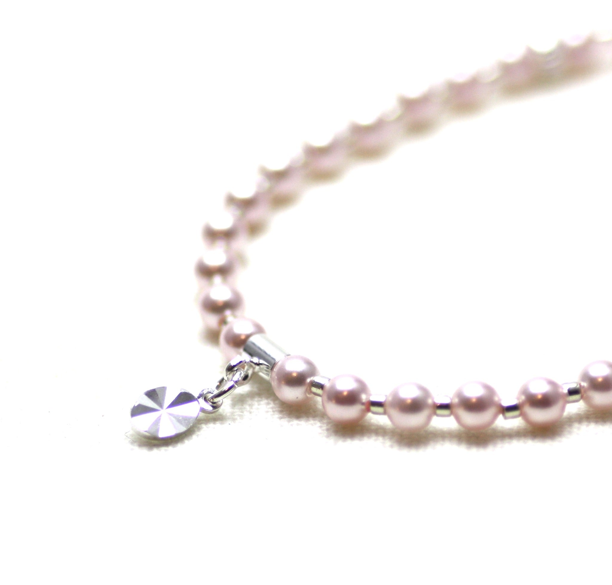 Rose Pearl and Silver Wrist Tasbih