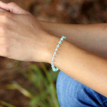 Sky Blue Apatite Bracelet in Wire Wrapped Silver