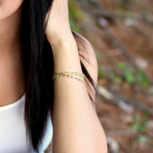 Peridot Bracelet in Wire Wrapped Gold