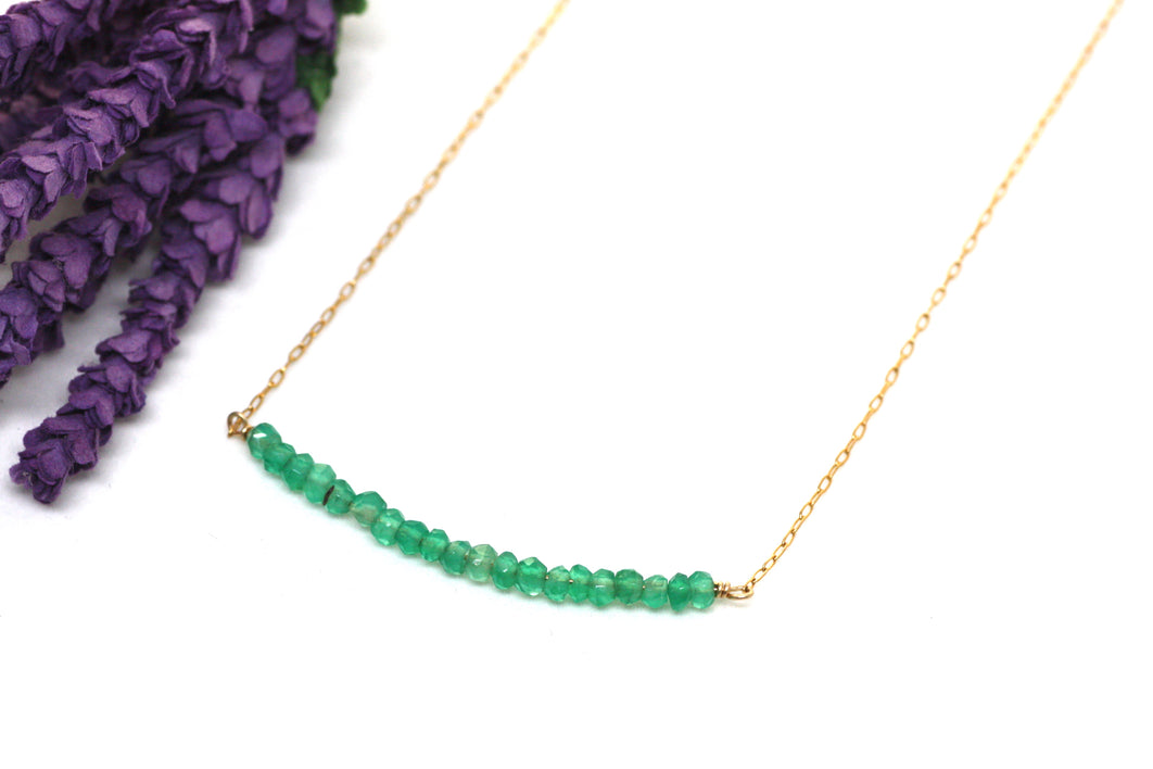 Green Onyx Bar Necklace