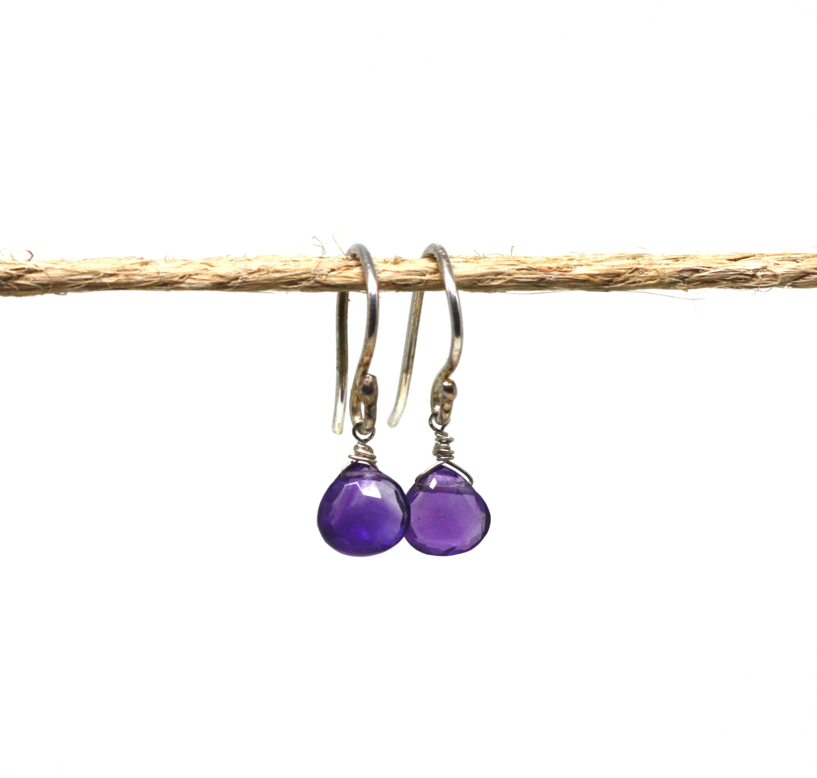 Sterling Silver Gemstone Drop Earrings CLEARANCE