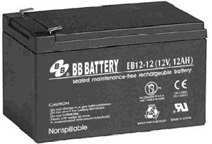 12 AH 12V EV Sealed Lead Acid Electric Bike Battery