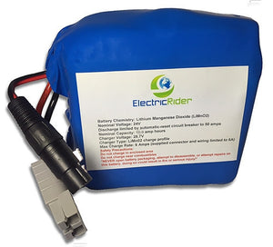 Lithium Ion 24V 10AH Battery for Electric Bikes - Up To 1600 Cycles