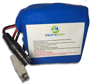 Lithium Ion 24V 15AH Battery for Electric Bikes - Up To 1600 Cycles