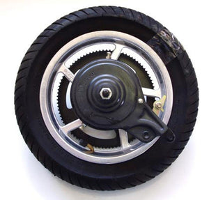 Mag Rear Wheel Assembly for Currie Scooters (incl Sprocket, Brake, Tube, and Tire)