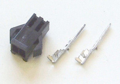 Female 2-pin black connector for Phoenix II (includes contacts)