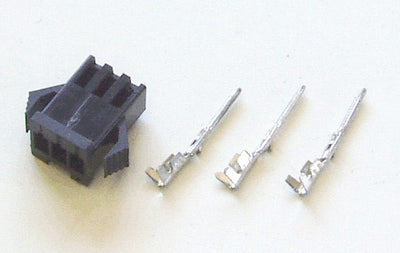 Female 3-pin black connector for Phoenix II (includes contacts)
