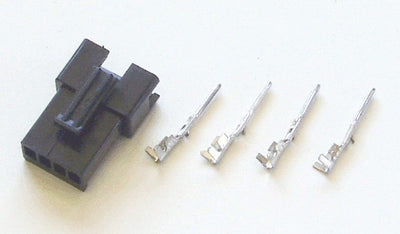 Male 4-pin black connector for Phoenix II (includes contacts)