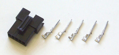 Male 5-pin black connector for Phoenix II (includes contacts)