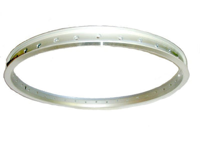Silver Rim for Hub Motor 29/700C (25 inches diameter, 23mm wide)