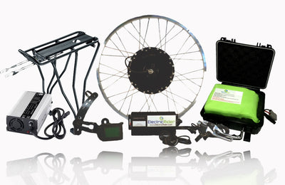 1200W Phoenix II Cruiser Ebike Kit w/ 48V Lithium-ion Battery - Front 26in
