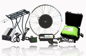3000W Phoenix II 72V Ebike Kit - Ultra Lightweight 72V Lithium-ion Battery - Rear 26in