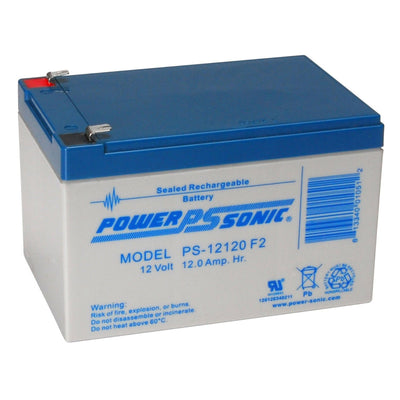 Power-Sonic 12V 12AH Battery F2 Terminals